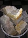 Камень для бани кварцит колотый (20 кг)